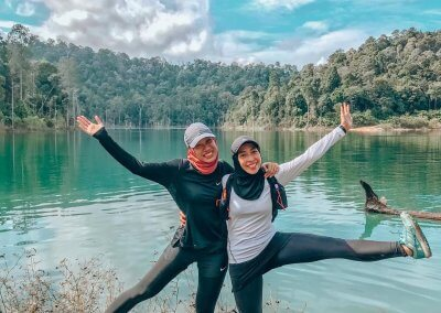 التنزه عند بحيرة Rimba Bayu