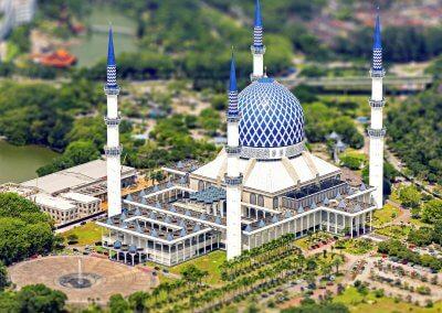 المسجد الازرق في شاه علم ماليزيا (1)