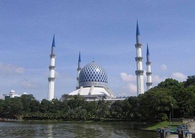 المسجد الازرق في شاه علم ماليزيا (11)