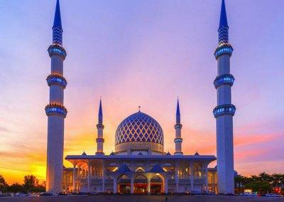 المسجد الازرق في شاه علم ماليزيا (14)