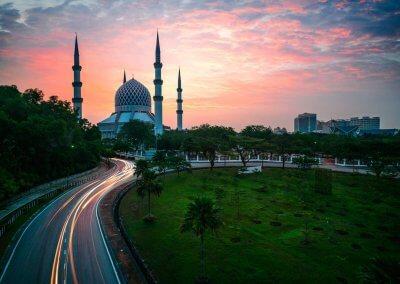 المسجد الازرق في شاه علم ماليزيا (15)
