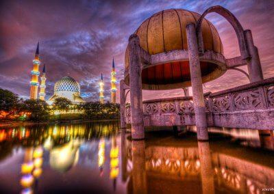 المسجد الازرق في شاه علم ماليزيا (16)