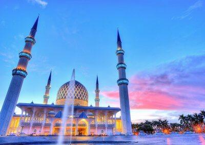 المسجد الازرق في شاه علم ماليزيا (19)