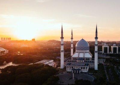 المسجد الازرق في شاه علم ماليزيا (2)