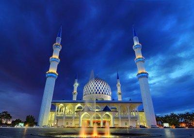 المسجد الازرق في شاه علم ماليزيا (20)