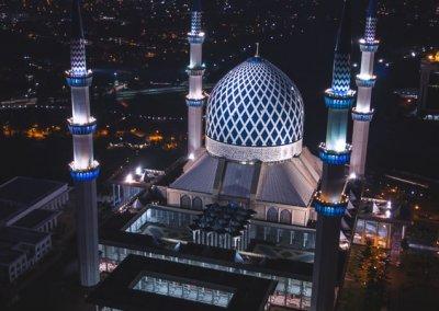 المسجد الازرق في شاه علم ماليزيا (26)
