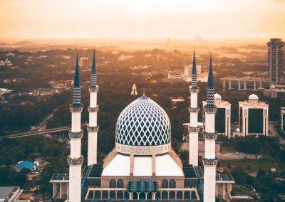 المسجد الازرق في شاه علم ماليزيا