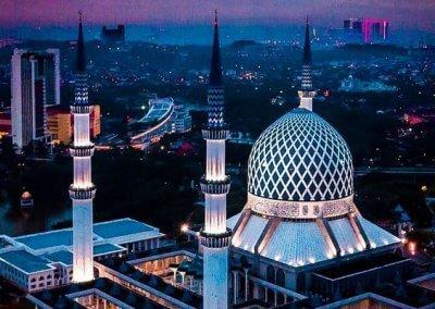 المسجد الازرق في شاه علم ماليزيا (5)