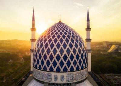المسجد الازرق في شاه علم ماليزيا (6)