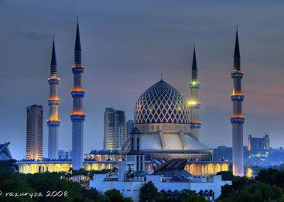 المسجد الازرق في شاه علم ماليزيا (8)