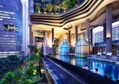 حديقة بابل المعلقة في بارك رويال سنغافورة (12)
