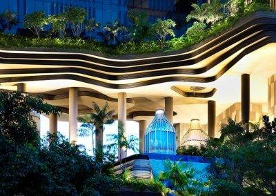 حديقة بابل المعلقة في بارك رويال سنغافورة (13)