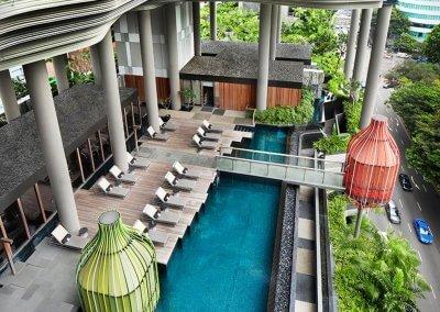 حديقة بابل المعلقة في بارك رويال سنغافورة (34)
