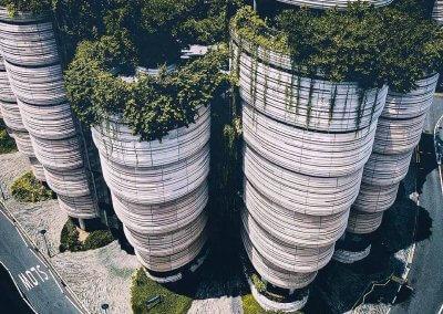 مبنى الخلية في جامعة نانيانغ السنغافورية (1)