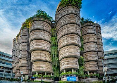 مبنى الخلية في جامعة نانيانغ السنغافورية (2)