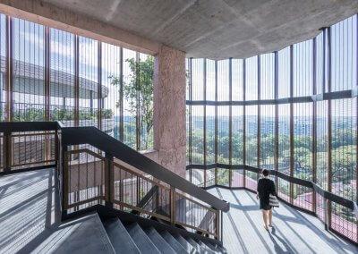 مبنى الخلية في جامعة نانيانغ السنغافورية (24)