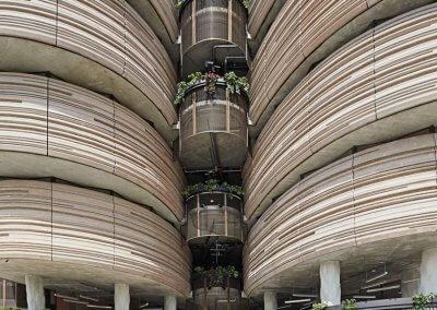 مبنى الخلية في جامعة نانيانغ السنغافورية (4)