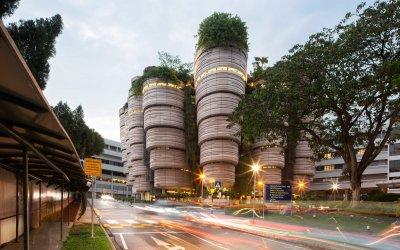 مبنى الخلية في جامعة نانيانغ السنغافورية