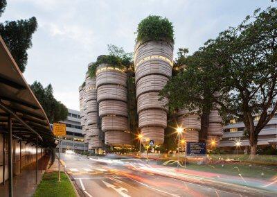 مبنى الخلية في جامعة نانيانغ السنغافورية (7)