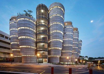 مبنى الخلية في جامعة نانيانغ السنغافورية (8)