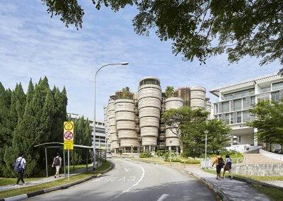 مبنى الخلية في جامعة نانيانغ السنغافورية (9)