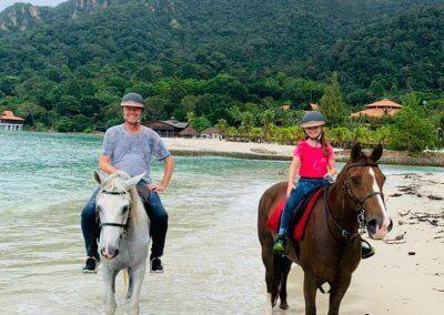 مغامرة ركوب الخيل في جزيرة لنكاوي (6)