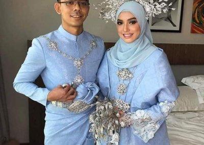 ملابس الزواج الماليزية التقليدية