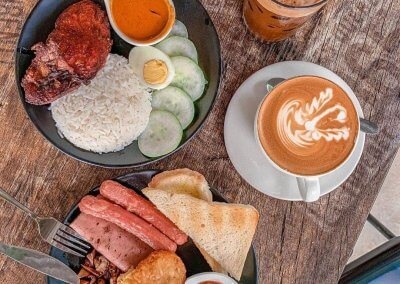 2. Brew N Bloom – kopitiam classics at a plant nursery cafe Address: Jalan Bukit Jalil Indah 2, 57000 Kuala Lumpur Opening hours: Thu – Tue 9AM-4.30PM (Closed on Wednesdays) Telephone: 012-224 3208