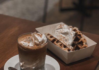 6. Temu – coffee with cream & croissant waffles Address: 62, Lebuh Melayu, 10300 George Town, Penang Opening hours: 10AM-6PM, Daily Telephone: 04-226 1863